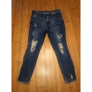 NWOT Express Distressed jeans